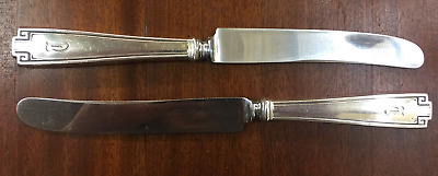 "Sterling Gorham Etruscan Dinner Knives 9.5""  - Set of 2"
