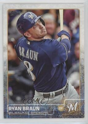 2015 Topps #262.2 Ryan Braun (Sparkle on Elbow) Milwaukee Brewers Baseball Card