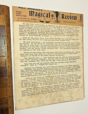 1929 Will Andrade's Magical Review Issue Australian Magician's Shop Newsletter!!