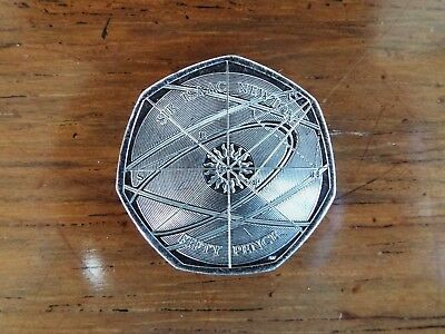 SIR ISAAC NEWTON 50p Coin 2017 - Uncirculated from Sealed Bag