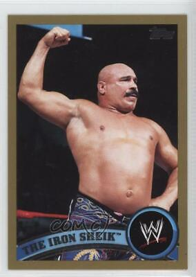 2011 Topps WWE Gold #94 The Iron Sheik Rookie Wrestling Card