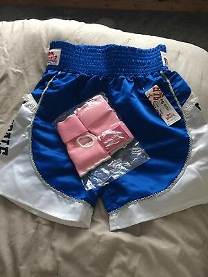 Lonsdale Pro Fight Trunks Shorts Size Small And Punk Gloves Size Small