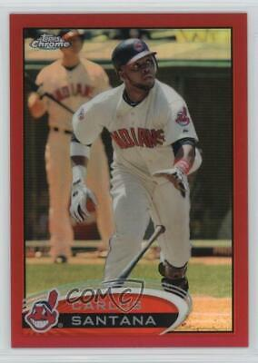 2012 Topps Chrome Red Refractor/25 #114 Carlos Santana Cleveland Indians Card