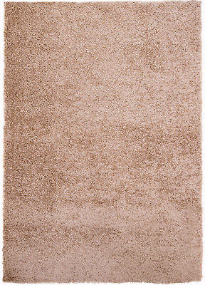 "Rugs Taupe Beige-Brown 5x7 Area Shag Rug Solid Shaggy Carpet Approx 4'9"" x 6'6"""