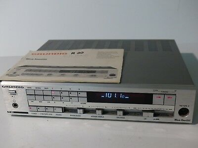 Vintage Grundig R30 stereo Receiver amp with book