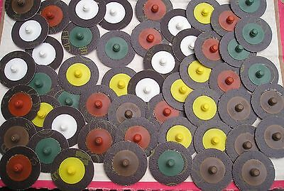 (t) Good selection of 3M Roloc grinding discs in 50mm size