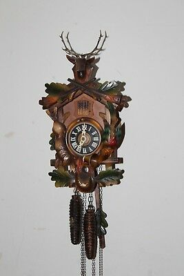 Lovely Vintage Working Regula Black Forest Mechanical Pendulum Cuckoo Clock
