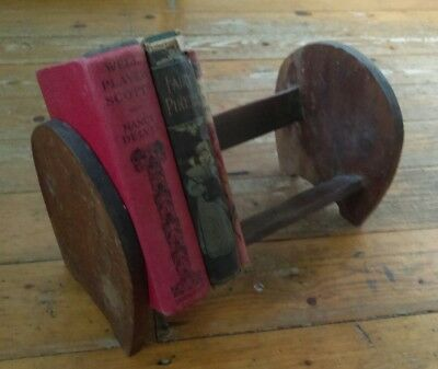Vintage antique hand made wooden book stand