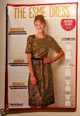 Simply Sewing Esme Dress party evening dressmaking craft pattern sizes UK 6-20