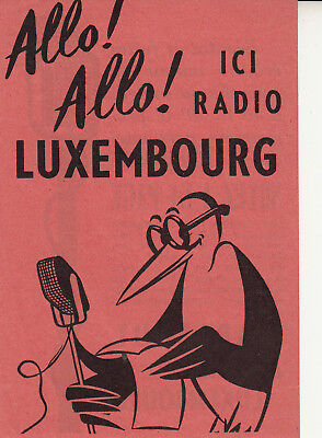 encart Marabout   à Radio Luxembourg