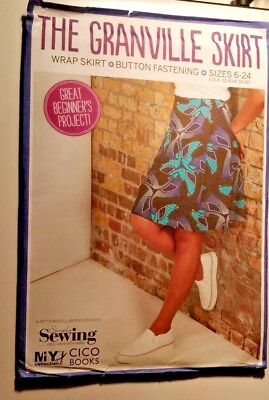 Granville Skirt wrap pattern Simple Sewing dressmaking size UK 6-24