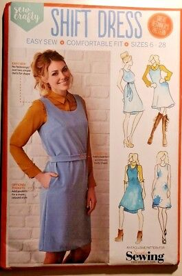 Simply Sewing Shift Dress pinafore Pattern Sizes 6 to 28