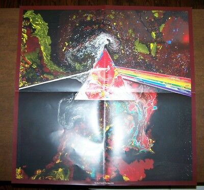 PINK FLOYD Dark Side of the Moon Poster Insert (2011) Prism Poster Never Used