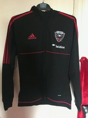 DC United Adidas Hooded Jacket Large Men's