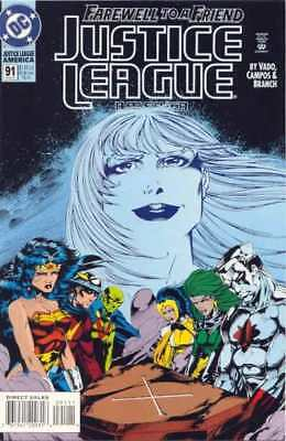 Justice League (1987 series) #91 in Near Mint condition. DC comics [*nk]