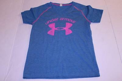 Youth Girls Under Armour M Loose Fit Blue S/S Shirt