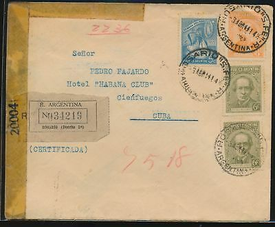 LJ64519 Argentina 1944 fine cover with nice cancels used