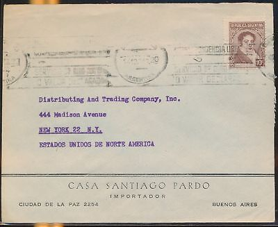 LJ64557 Argentina New York fine cover with nice cancels used