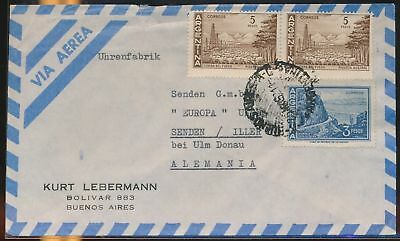 LJ64575 Argentina 1950s Germany airmail cover used