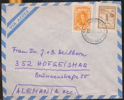 LJ64582 Argentina 1973 Germany airmail cover used