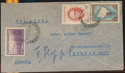 LJ64586 Argentina 1938 Germany airmail cover used