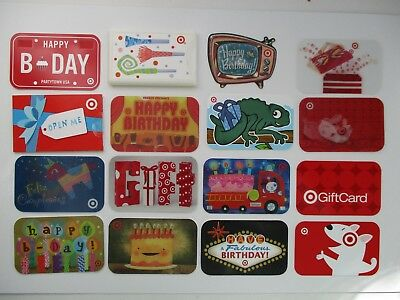 16 Target Gift Card Happy Birthday Vintage Collectible $0 New