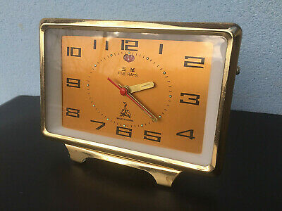 Vintage Mechanical Alarm Clock Chinese China Five Rams Unique Rare Old 1960s