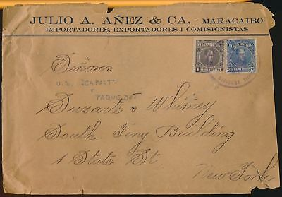 LJ64640 Venezuela New York fine cover with nice cancels used