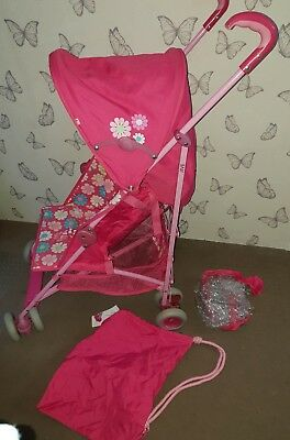 Mothercare Jive Pushchair/stroller Pink With Raincover