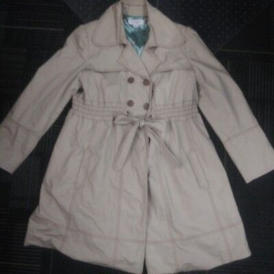 Liz Lange Maternity  for Target High Waist Trench Coat /Jacket  Khaki  Sz XL