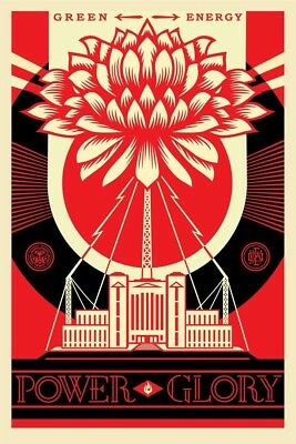 SHEPARD FAIREY ♦ Power and Glory ♦ OBEY ♦ LITHO OFFSET SIGNED