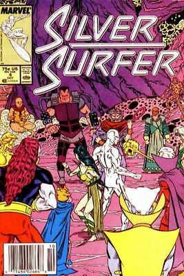 Silver Surfer (1987 series) #4 in Near Mint minus condition. Marvel comics [*5z]