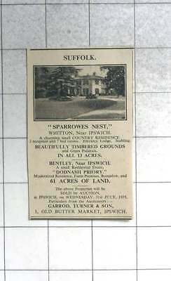 1935 Sparrowes Nest, Whitton Near Ipswich For Sale With 13 Acres