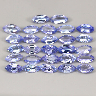 Tanzanite 3.51ct. 5x2.5mm. 27pcs. Marquise 100%natural Top Nice Blue Violet Lot!