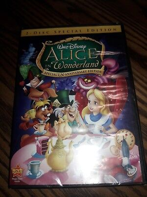 Alice in Wonderland (DVD, 2010, 2-Disc Set, Un-Anniversary Special Edition) NEW.