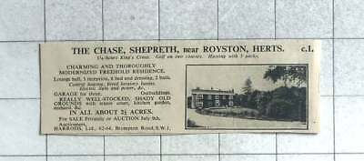 1935 The Chase, Shepreth, Near Royston Hertfordshire With 2 Acres For Sale