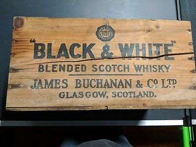 Black &White Whiskey Box