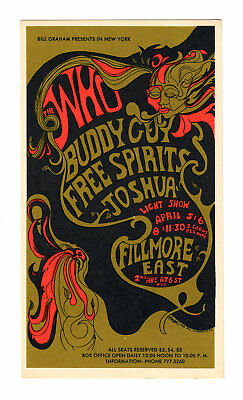 Fillmore East - Orig 1968 Postcard - The Who