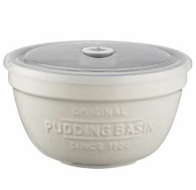 MASON CASH Innovative Kitchen PUDDING BASIN with LID DATE TRACKER Storage Bowl