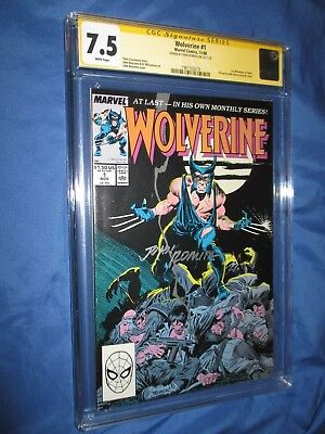 WOLVERINE #1 CGC 7.5 SS Signed by John Romita Sr   ~1988 1st Patch / X-MEN