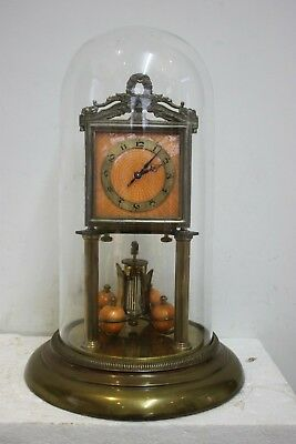 Unusual Jahresuhrenfabrik Art Deco Anniversaryclock 400day clock torsion clock