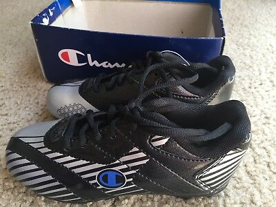 724fdd74b CHAMPIONS BOYS SOCCER Cleats Size 13 Low Top Blue Laces Kids Leather ...