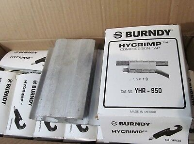 10-Pack Burndy Yhr-950 Hycrimp Compression H Taps Use With Y46 Hypress