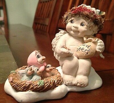 """Dreamsicle Figurine """"Heaven Will Provide"""" with bird's nest"""