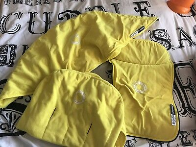 Bugaboo bright yellow soft fleece Cameleon Hood, Apron & Seat Cover Set