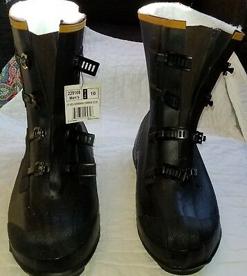 lacrosse galoshes overshoe carbide boots 229108 size 10 New