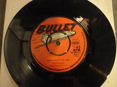 """7"""" The Stickers*One Night Of Sin/Version*Bullet*Reggae"""