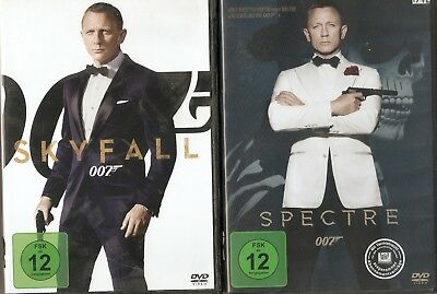 James Bond 007 Daniel Craig Collection 4 DVDs Spectre Skyfall Casino Royale EQT