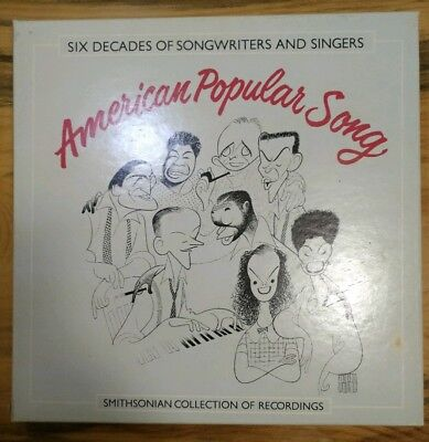 "AMERICAN POPULAR SONG SMITHSONIAN COLLECTION 7 VINYL 12"" RECORDS Hirschfeld"