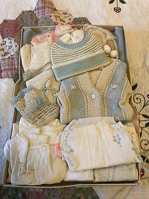 Large Lot of antique victorian vintage baby clothes dresses pajamas primitive